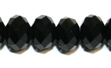 72pcs x 10mm Black rondelle faceted glass beads -- S.J -- 3005730